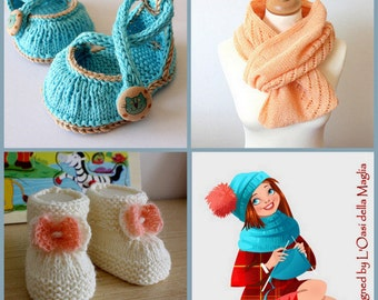You Choose  ANY 5 patterns (knitting and crochet patterns)