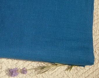 Pure Linen fabric True BLUE ecofriendly sewing supplies home decor from MyGypsyCottage on Etsy