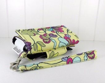 The Errand Runner - Cell Phone Wallet - Wristlet - for iPhone/Android -Spanish Petals/Eggplant