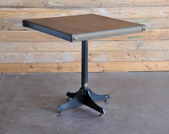 Vintage Industrial Two Top Restaurant Table