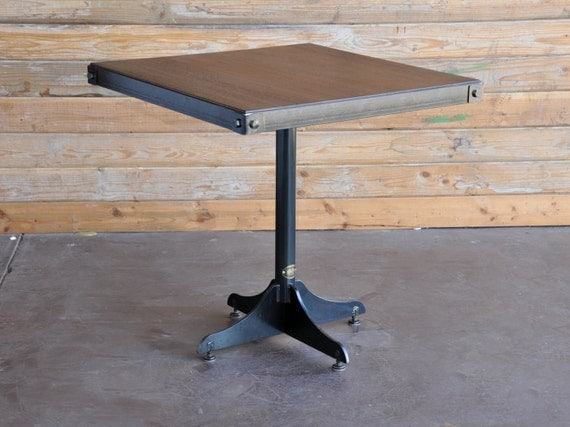 Vintage industrial two top restaurant table by - Table cuisine retro ...