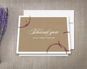 Winery Thank You Cards Wine Stains
