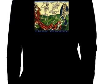 Danse Macabre Skeleton Death Dance Men's Long Sleeve T-Shirt