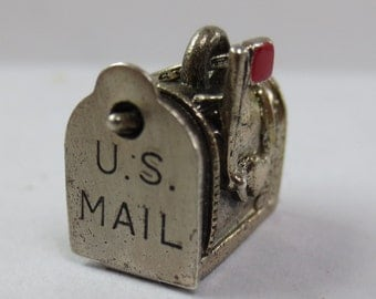 BEAU US MAIL Box - Opens- Sterling Silver Charm or Pendant