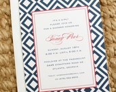 baby shower invitation - diamond (baby boy or girl)