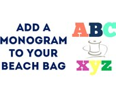 Add a Monogram to your Beach Bag Colorful Letter Applique
