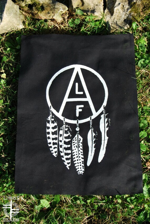 ANIMAL LIBERATION FRONT ~ backpatch and free patch (30 different designs available)