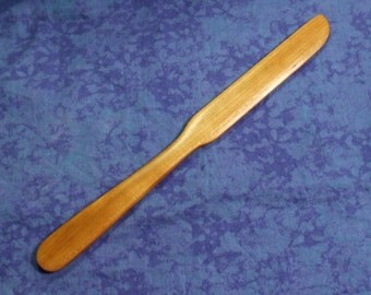 Hand carved spreader butterknife in cherry wood style #3