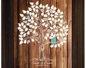 Wedding Guest Book Guestbook Alternative, guestbook ideas, Tree Love Birds Wedding Personalized Wedding Unique Wood Anniversary Gift Ideas