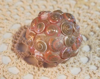 Sea Shell Decorative Ball:  Mini (Pink Shells)