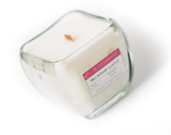 Chunky square crackler candle - Medium