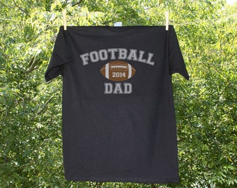Football Dad T Shirt - Can be personalized with Name & Number on back (see pricing in variations)