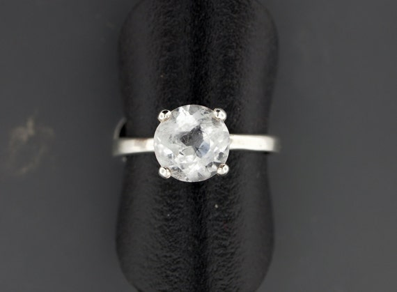 Sterling Silver Solitaire Ring With Crystal Quartz