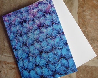 Blue Crochet Blank Card Irish Photography Greetings Card Irish Blank Card