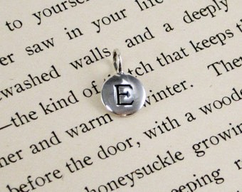 "Sterling Silver Letter  ""E"" Charm"