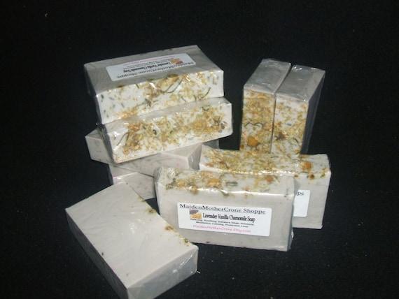 Lavender Vanilla Chamomile Soap Jabon Wicca Pagan Spirituality Religion Ceremonies Hoodoo Metaphysical MaidenMotherCrone