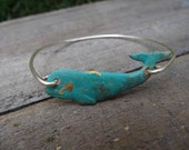 Silve Whale Bangle- Choose from 2 colors Buy 3 Get 1 FREE!