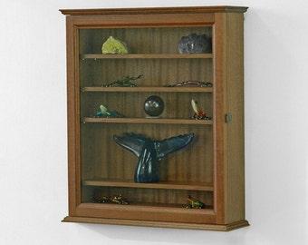 Curio Wall Cabinet-Sapele Hardwood