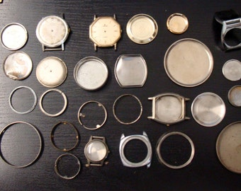Lot Of Watch Parts For Craft Use