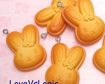 2 Puff Bunny Baked Biscuit Lucite Charms.02