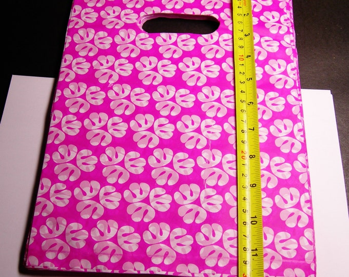 "100 - Plastic bags- Handles bags - retail bags - wholesale bags - 8""x 12"" - LDPD33"