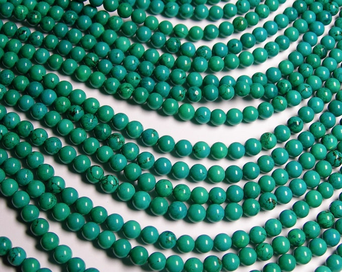 Howlite turquoise - 6mm round beads - full strand - 65 beads - AA quality - RFG962