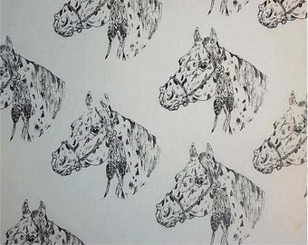 Appaloosa Horse Fabric Hot Diggity Dog Fabrics Novelty Fabric 1 yd