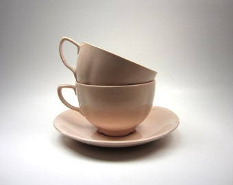 Rosedawn tea cups and saucer by Johnson Bros England - midcentury