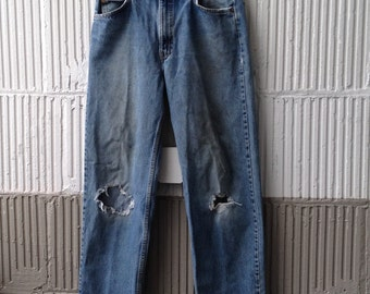Levis 550 Vintage Relaxed Fit Jeans/1980s Organic Distress