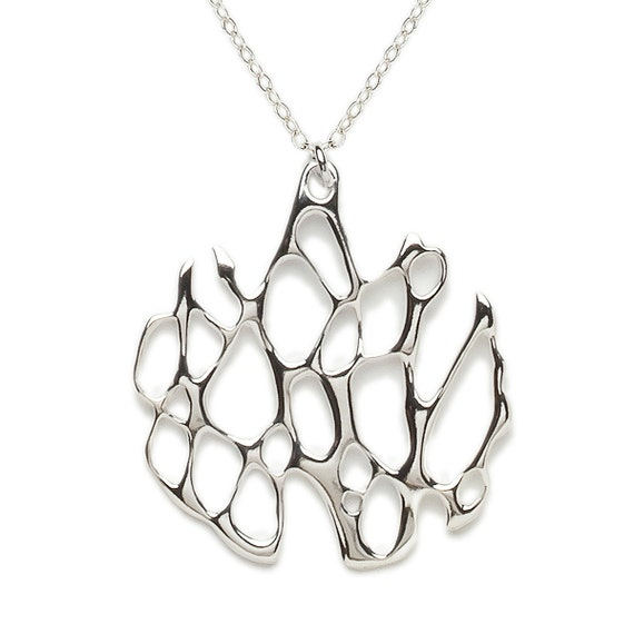 Sterling Silver Cactus Necklace, Organic Necklace, Botanical Necklace, Eco-Friendly Silver Necklace, Southwestern Jewelry, Desert Necklace