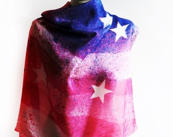 American flag silk scarf -  galaxy silk wrap