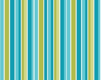 Riley Blake Peak Hour! PERFECT boy fabric for any project! Blue and Green Stripe Awesome Design