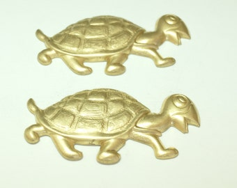 Vintage Brass Turtle 60mm Finding (1)