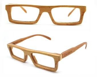 American cherry wood NEVER handmade wooden takemoto brown sunglasses Free shipping