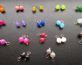 4mm Gemstone Multicolor MINI JADE CHARMS for interchangeable earrings, necklaces, bracelets or anklets Swap the Drop