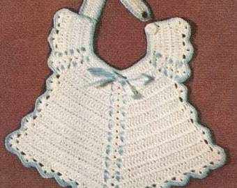 Baby Breakfast Bib Crochet Pattern PDF E-pattern