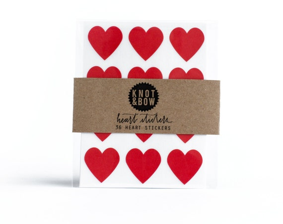 144 Red Heart Stickers / FREE SHIPPING