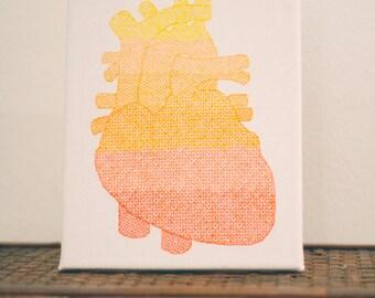 Blackwork embroidery heart