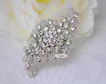 Rhinestone Brooch - Flatback Embellishment - Rhinestone Broach - Brooch Bouquet Supply - Supply - Wedding Jewelry Supply - RD189