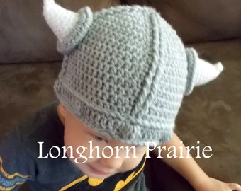 Viking Hat crochet beanie (6 months - 4 years) RTS