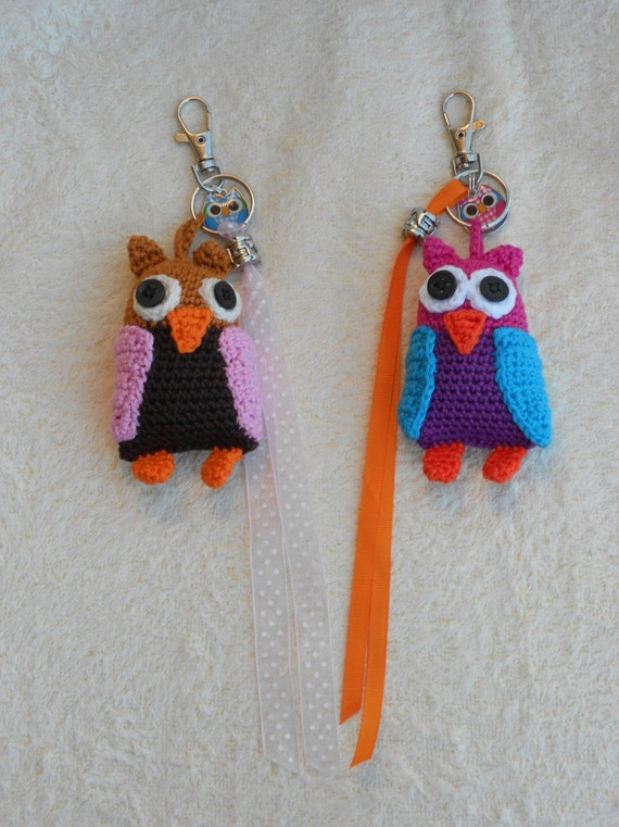 Crochet pattern key chain Stork Owl or Pony by wolgeit on Etsy