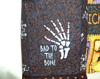 Quilted & Embroidered Halloween Bags, large