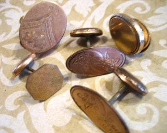 Victorian Gold Filled Destash LOT Locket Stickpin Cufflinks for Jewelry Making Repair