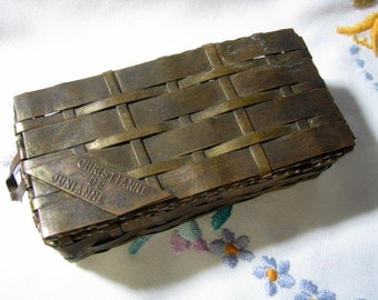 Prince Matchabelli Perfume Container 1929 Woven Metal Box