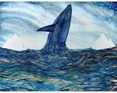 Fine Art Print-Journey of the Blue Whale