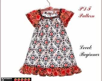 Amelia PEASANT DRESS PATTERN + Free Mother-Daughter Apron Pattern, Sewing pdf Patterns, Girls Dress Patterns, Children, Toddler, Tutorial