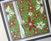 Christmas Greeting Cards:  Handmade Blank Note Card - Country Christmas