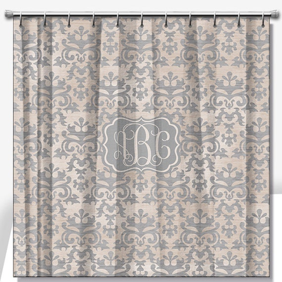 Vintage Damask Personalized Shower Curtain 70x70, 70x90 or a custom ...