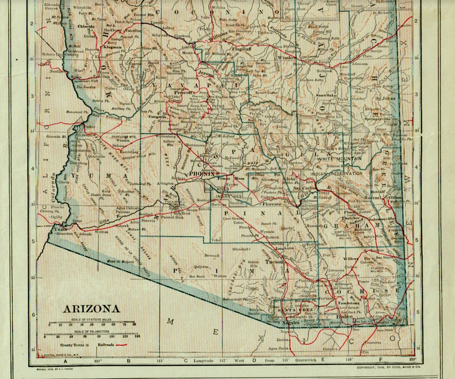 It's just a picture of Invaluable Printable Arizona Map