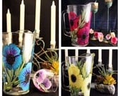 Hand Painted Glass Pitchers